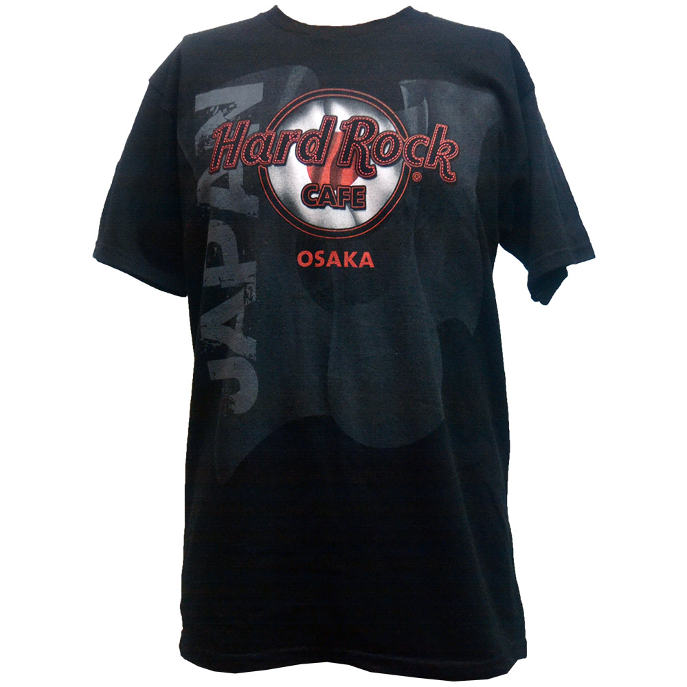 hard rock cafe osaka japan flag t shirt